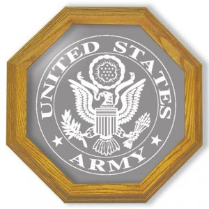 "20"" United States Army Emblem Etched Wall Mirror"