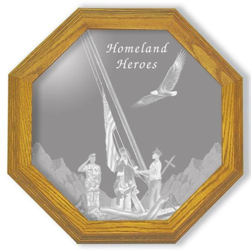 """20"""" Homeland Heroes Etched Wall Mirror"""