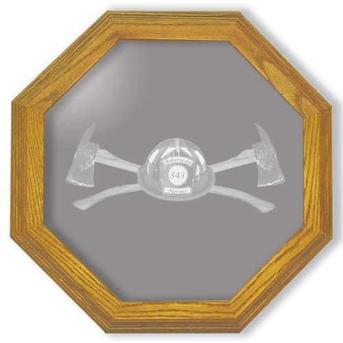 "13"" Axe 343 Firefighter's Etched Wall Mirror"