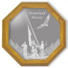 "28"" Homeland Heroes Etched Wall Mirror"