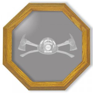 """28"""" Axe 343 Firefighter's Etched Wall Mirror"""