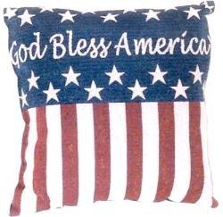 "18""x18"" God Bless America Throw Pillow"