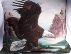 """18""""x18"""" Soaring Eagle Throw Pillow"""