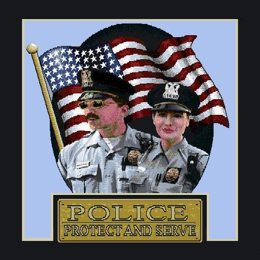 """18""""x18"""" Protect and Serve Throw Pillow"""