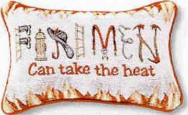 "9""x13"" Firemen Can Take the Heat Pillow"