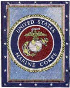 "17""x13"" Cotton United States Marines Banner"