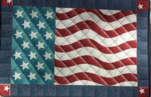 "18""x29"" American Flag Cotton Rug"