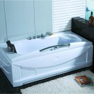 1 Person Hydrotherapy White Bathtub with Bluetooth, Remote Control, and Heater - 01A