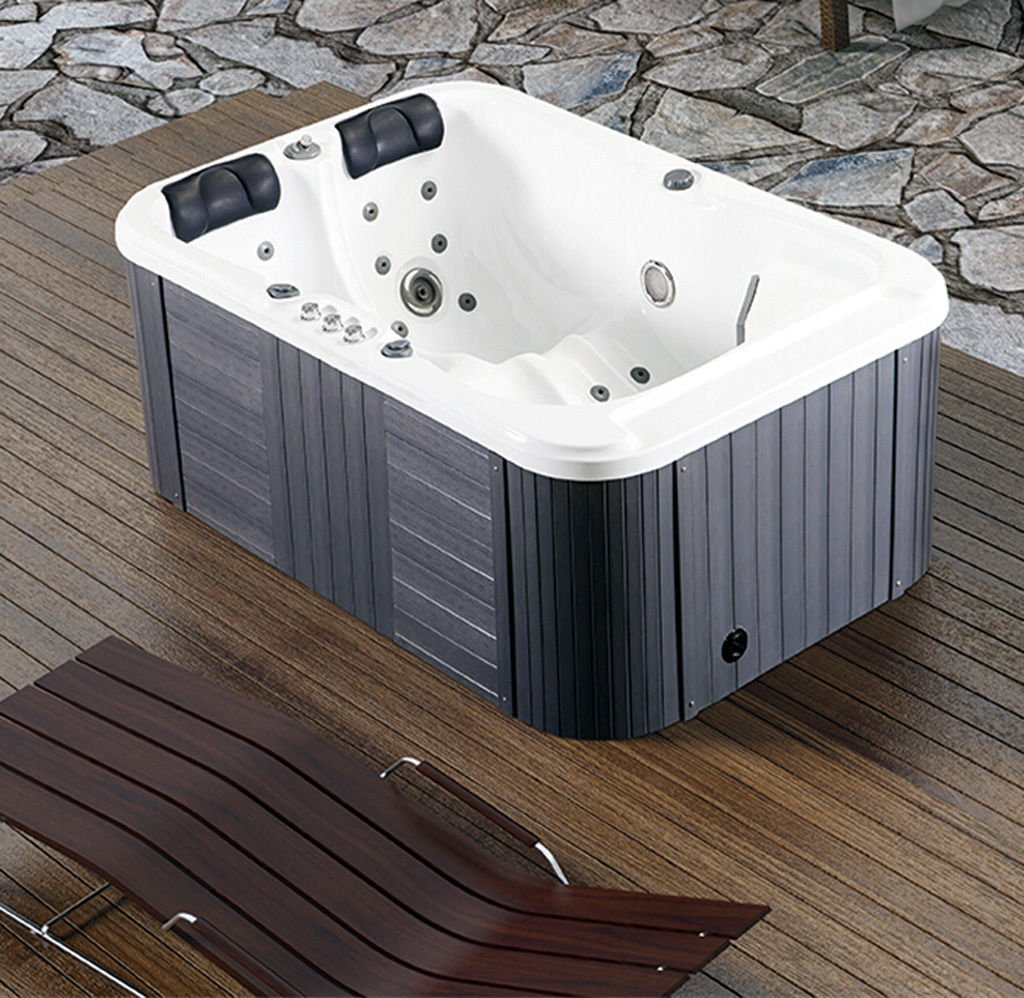 2 Person Indoor/Outdoor Hydrotherapy Bath/Hot Tub, with 3KW Heater ...