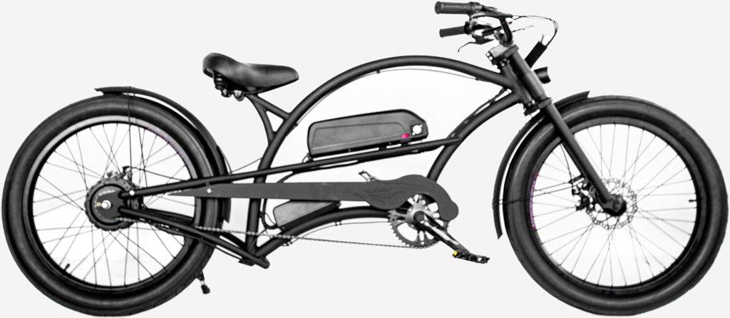 1000W Electric Beach Cruiser Fat Snow Tires Chopper Bicycle 48V 17AH Samsung Battery Bafang