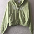 NIKE Womens Full Zip Front Hooded Sweatshirt Jacket Green  Size Medium