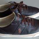 EUC Mens Polo Ralph Lauren Hanford Dark Brown Leather Casual Shoes 8.5 D