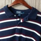 POLO RALPH LAUREN Men's Long Sleeve Striped Polo Shirt Sz Large
