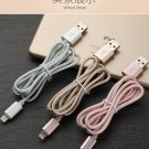 Silver USB Cable For iPhone 7 6s 6 Plus 5 SE For iPad For Apple Mobile Phone