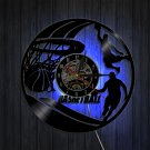 Basketball Silhouette Wall Art Decor LED Clocks Handmade Vinyl Record Wall Clock Gift