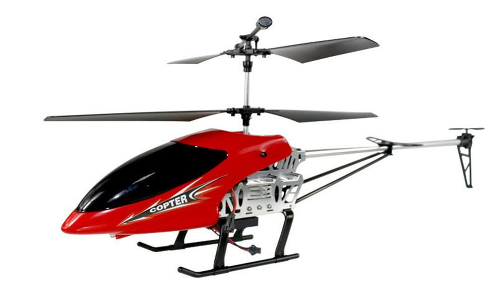 Red Fall-resistant 3.5-pass wireless remote control helicopter model toys