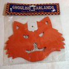 Ghoulish Garlands 9 foot cat cutout vintage in package cm1060