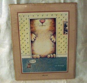 Gary Patterson Fat Cat caricature print 8x10 vintage cm1268