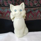 Avon cat bottle empty blue rhinestone eyes Sweet Honesty Cologne vintage cm1328