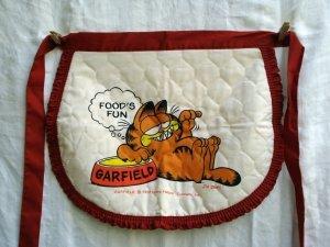 Garfield Food's Fun quilted half apron 1978 unused cm1360