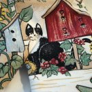 Kay Dee Country Birdhouse oven mitt with tuxedo cat Laurie Korsgaden unused preowned cm1370