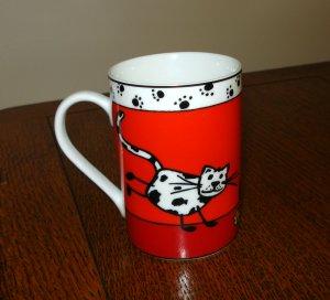 Konitz porcelain cat coffee mug humorous unused vintage cm1373