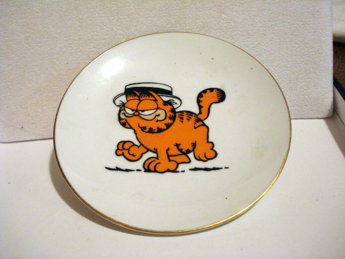 Garfield the cat porcelain pin dish preowned cm1378