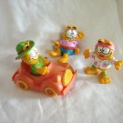 Garfield the cat lot of 3 cats 1 car Happy Meals figures from 1981 cm1418
