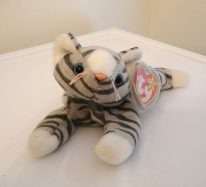 Prance the tabby cat 1997 Ty Beanie Baby toy retired mint  cm1442