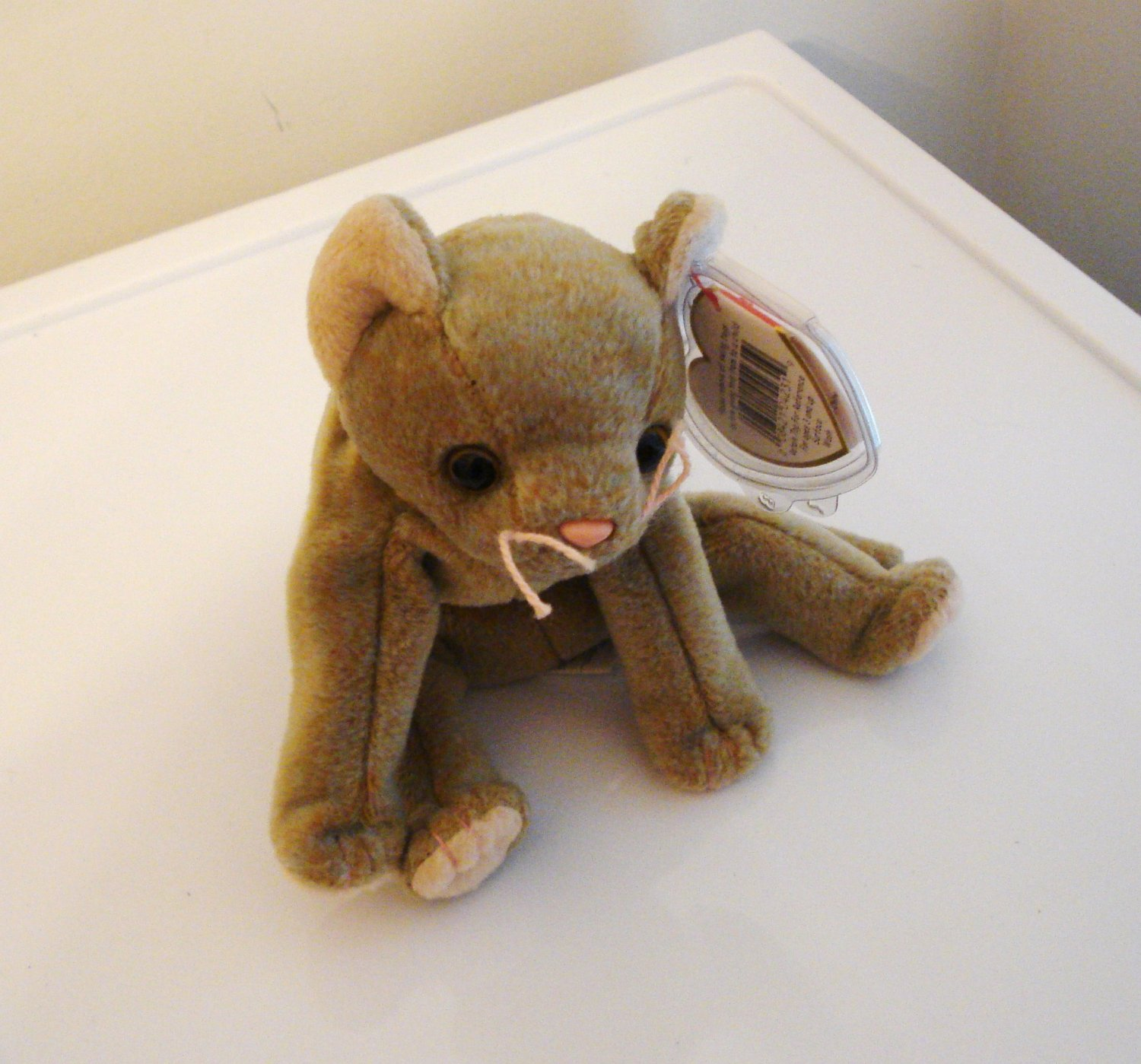 Scat the tan cat 1998 Ty Beanie Baby toy retired mint  cm1449