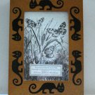 Umbra wooden picture frame spooky cat inlays 4X6 unused preowned 4 way cm1458