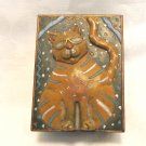 Jazzy Cats Cat topped trinket box designed by Nancy Bohm vintage cm1492