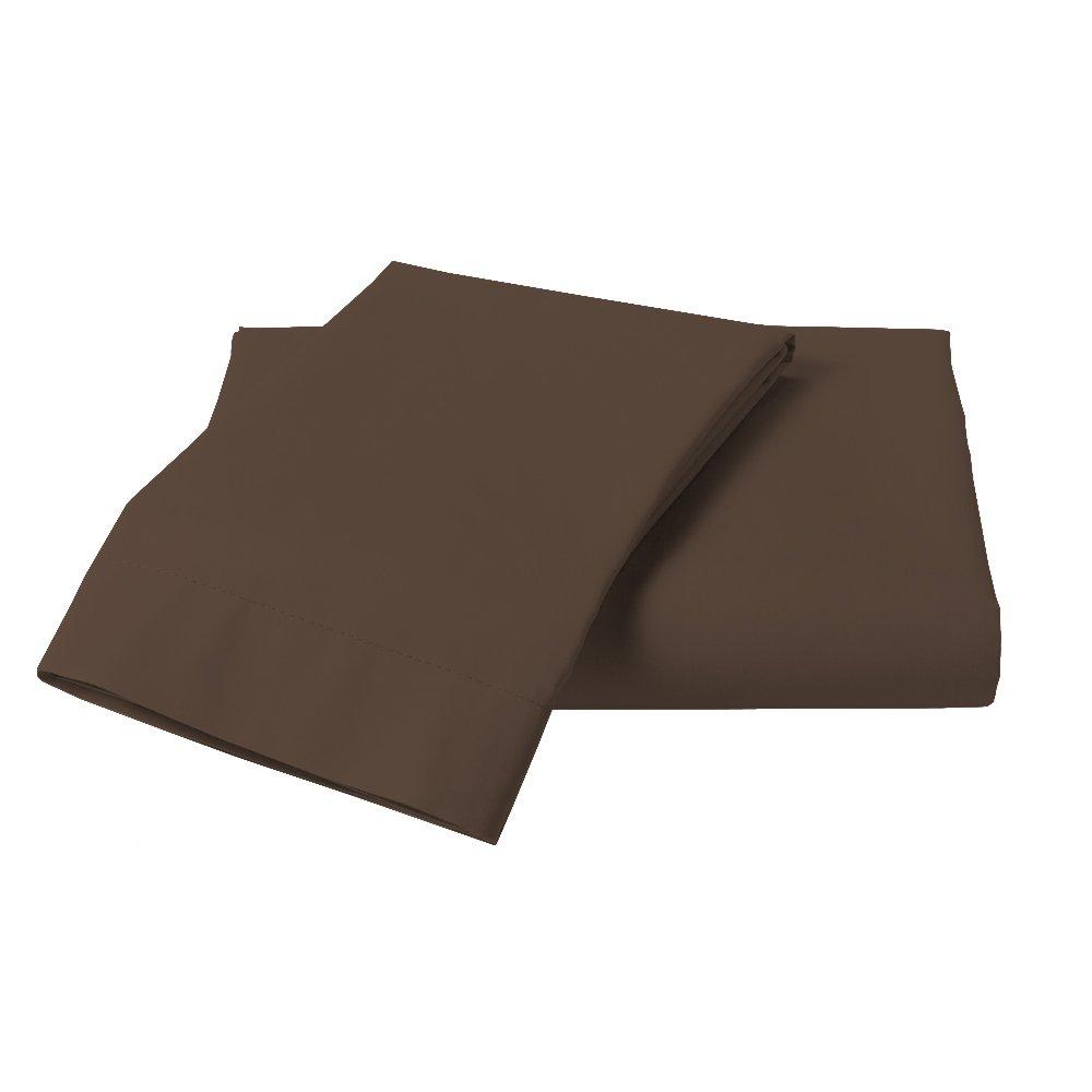 Misr Linen King Calking Chocolate Solid 3pcs Duvet Set