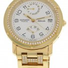 Ladies Hermes 18k Yellow Gold & Diamonds Automatic Watch
