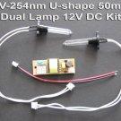 UV-C 254nm Germicidal Air Purification U-shape 50mm Dual Light Bulb 12V DC Kit
