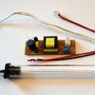 UVC 254nm Ushape 100mm Light Bulb 12VDC Kit Quartz Sleeve Air Water Purification