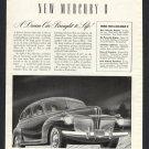 1940 '40 MERCURY 8 SEDAN 4 DOOR VINTAGE CLASSIC CAR ANTIQUE MAGAZINE PRINT AD
