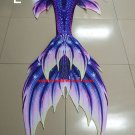 Kids Mermaid Tail for Swimming Purple, Swaimmable Mermaid Tail with Monofin Top Bra