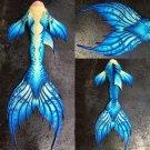 Kids Fairy Mermaid Tail Fabric for Swimming, Birthday Gift, Kids Beach Costumes