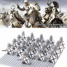 Medieval Crusader Roman White Storm Troopers Soldiers Compatible with Lego Sets