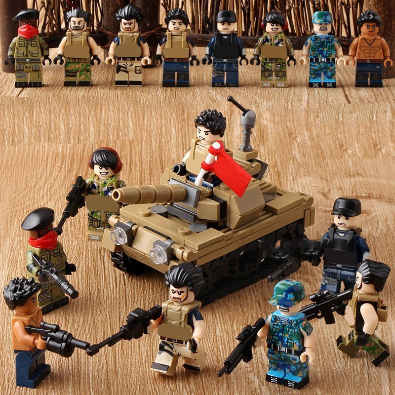 Africa Soldiers Action Marines Military SWAT Minifigures Compatible Lego