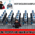 Anakin Skywalker and Clone Troopers Minifigures Compatible Lego Star Wars Minifigures