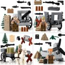 World War 2 Soviet Soldiers Minifigures Attacking German Amry Compatible Lego Soldiers