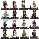 Pirates of the Caribbean Jack Red Hats Charactoers Compatible Lego Minifigures
