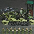 Military Camouflage Soldiers Armored Motorcytle Guns Cannons Gear Compatible Lego Minifigures