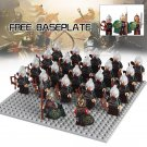 King Theoden Castle Helmet Hobbit Lord of the Rings Minifigures Compatible Lego Minifigures