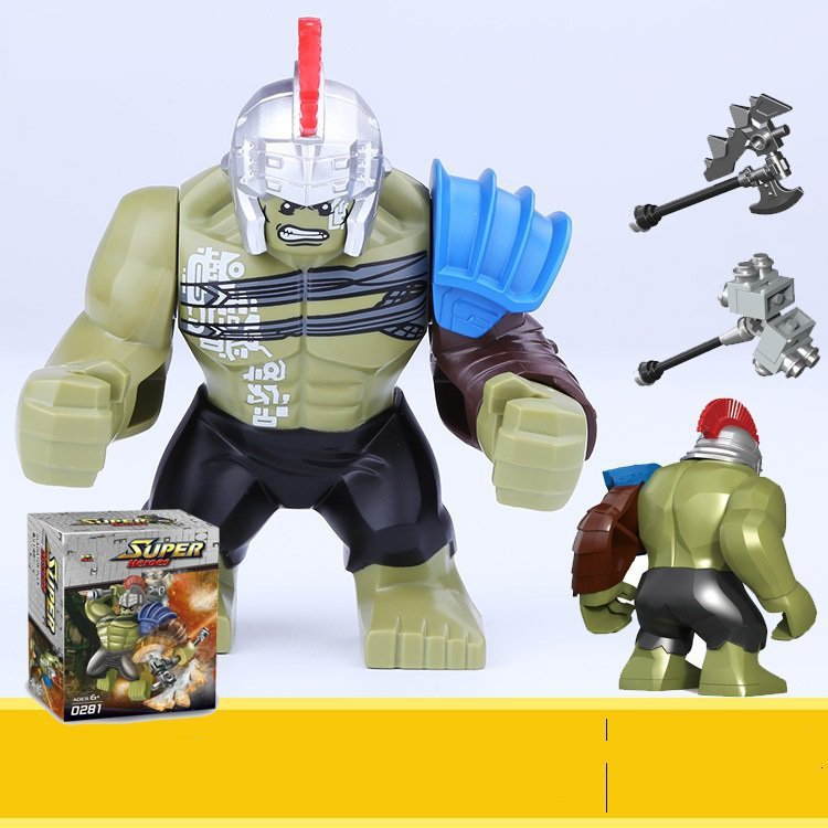 Incredible HULK Thor Ragnarok Minifigure Compatible Lego Marvel Hero Toy