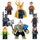 Marvel Super Hero Minifigures Compatible Lego Loki Thor Ragnarok Hulk
