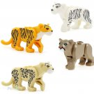 SUMMER JUNGLE SETS Big Cat Line Panther Leopard Tiger Minifigures Compatible Lego