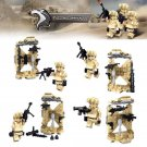 Armed Army Soldiers Silver War Speical For Compatible Lego Military Sets